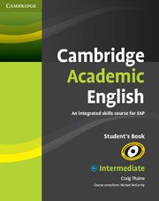 Cambridge Academic English Intermediate book cover