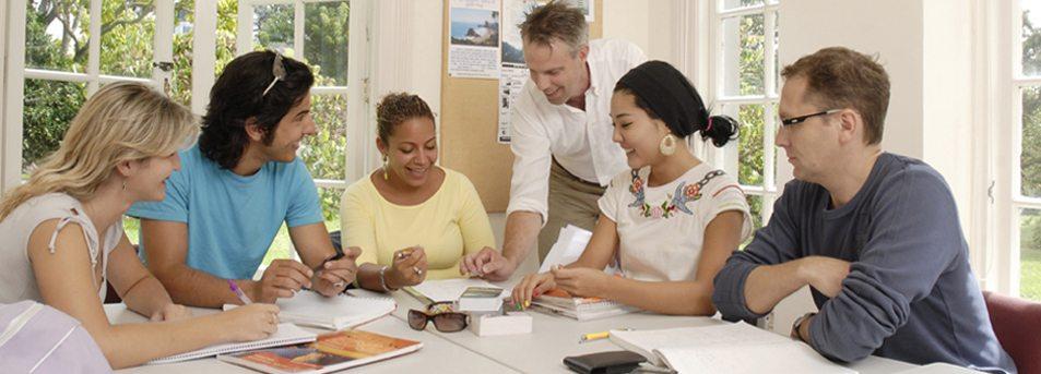 Students learning English at Languages International