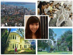 Jenny studying English at Languages International, Auckland, New Zealand