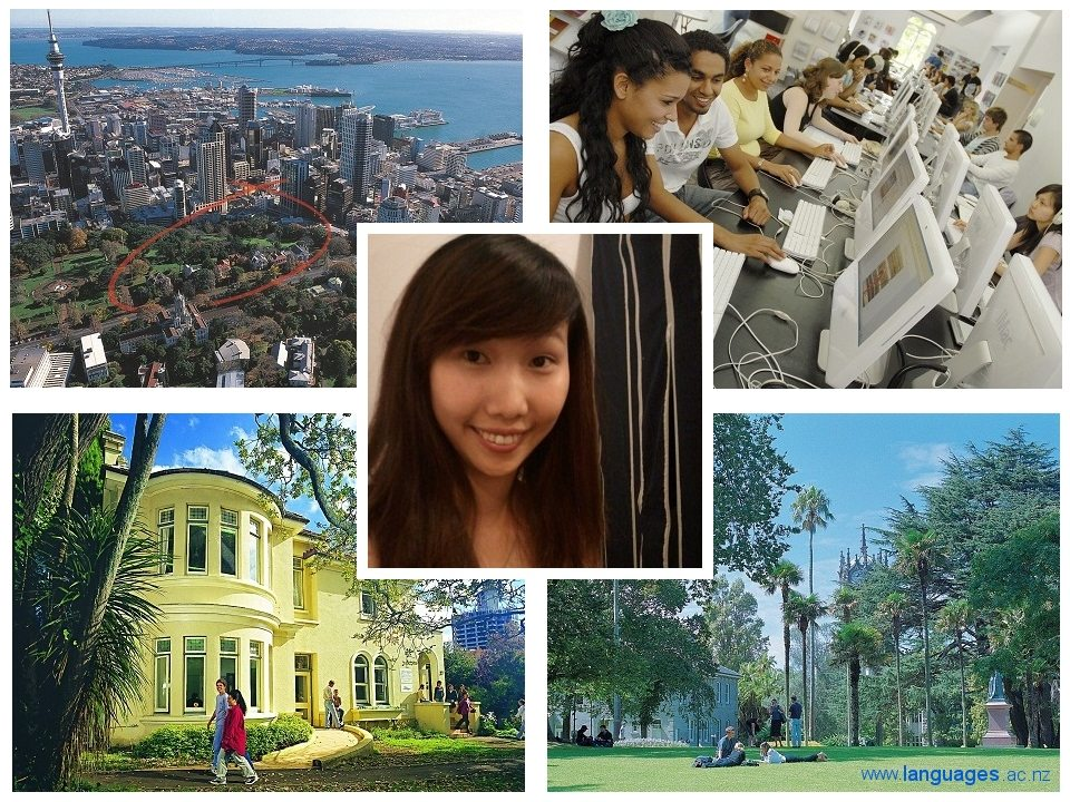 Jenny studying English at Languages International, Auckland, New Zealand