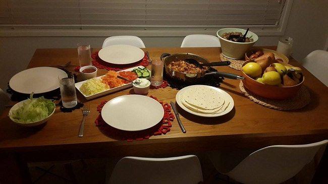 New Zealand family dinner