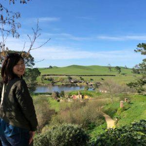 Ayaka at Hobbiton