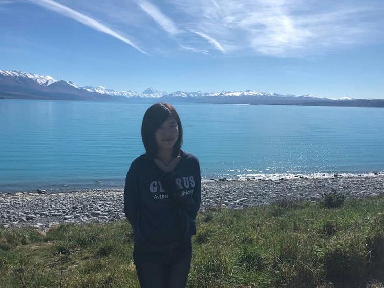 Ayaka at Lake Tekapo