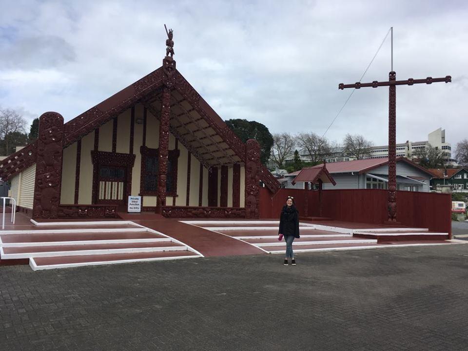 Marae Maori en Nouvelle-Zélande