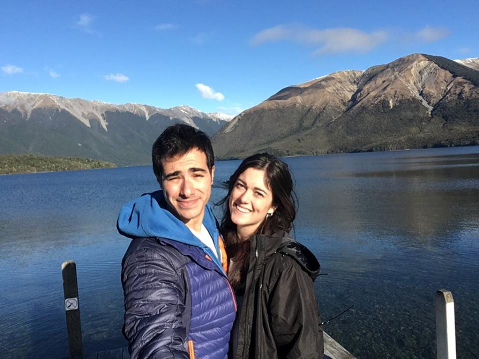 Julien and his partner in New Zealand