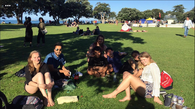 Yamile and friends at an Auckland park