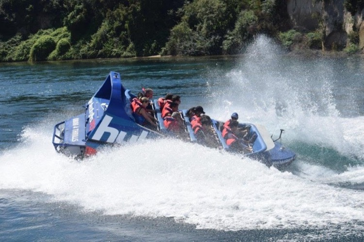 jet boating in New Zealand