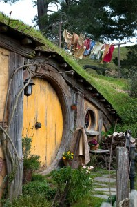 Photo of a Hobbit's door