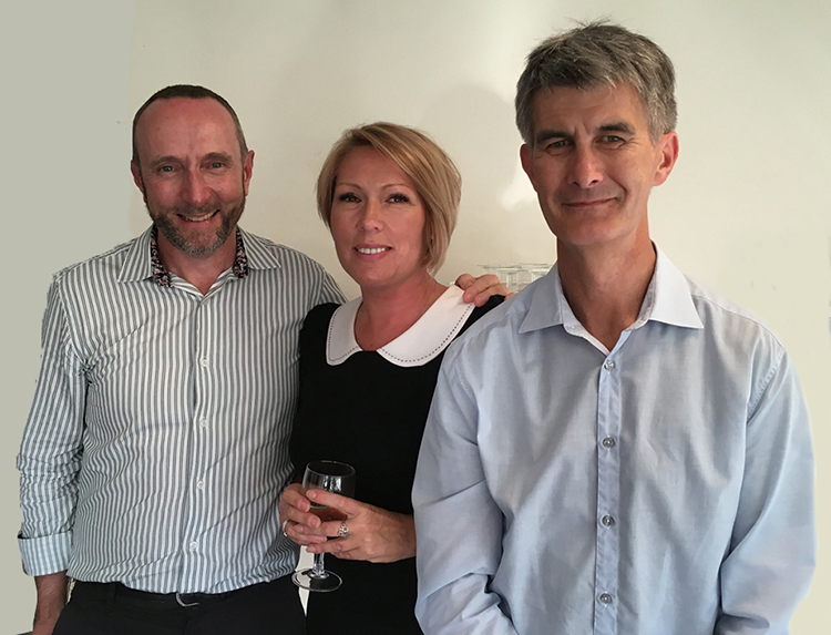 Larissa at her farewell with our Director of Marketing and Operations Brett Shirreffs and Managing Director Darren Conway