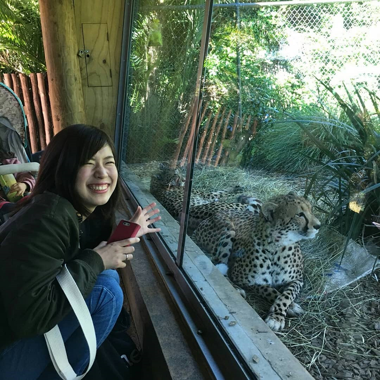 Ayaka at the Auckland Zoo, New Zealand