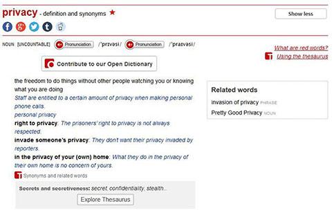 Macmillan online dictionary