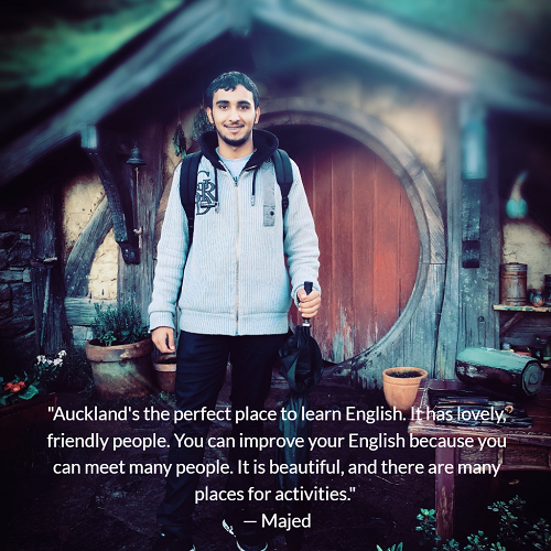 Majed at Hobbiton