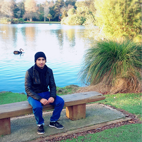 Majed at Western Springs Park in Auckland