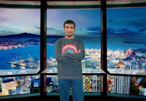 Majed at Auckland's Sky Tower