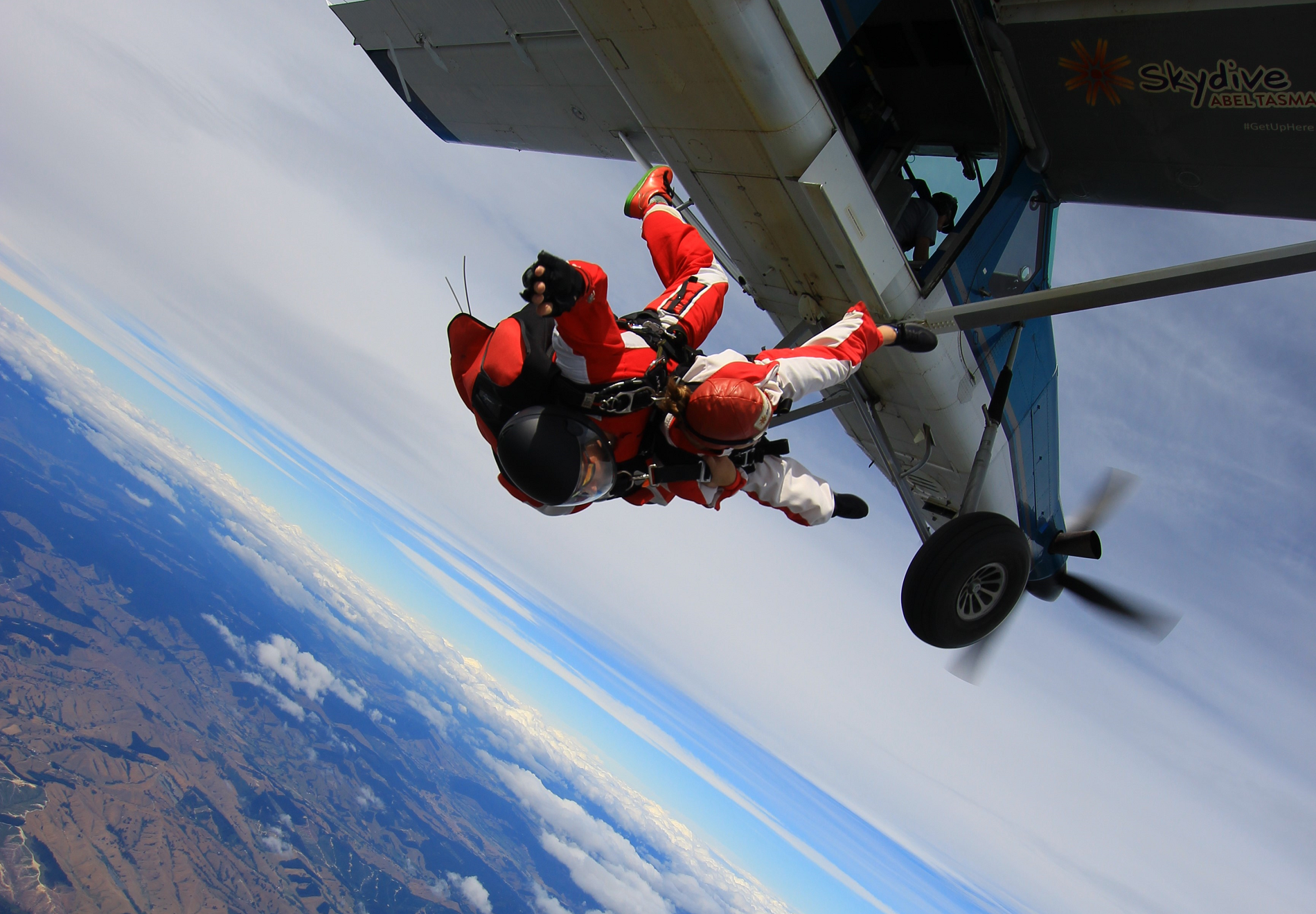 Marisa skydiving in New Zealand