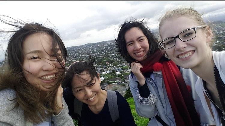 Mount Eden mit Klassenkameraden