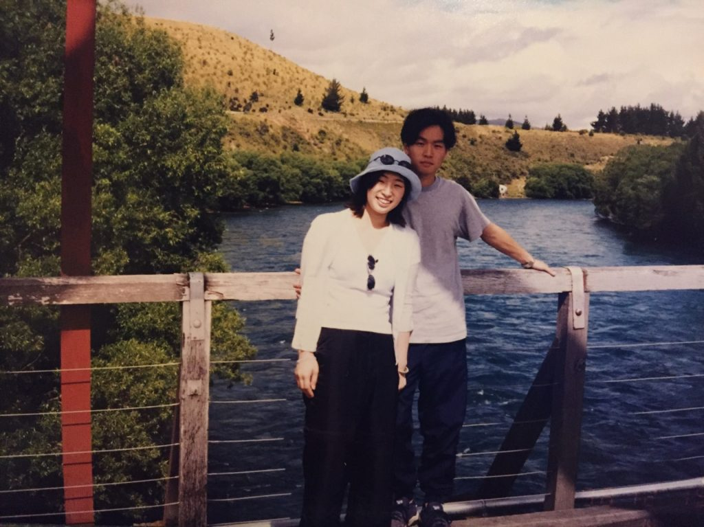 Tae and Daniel in New Zealand