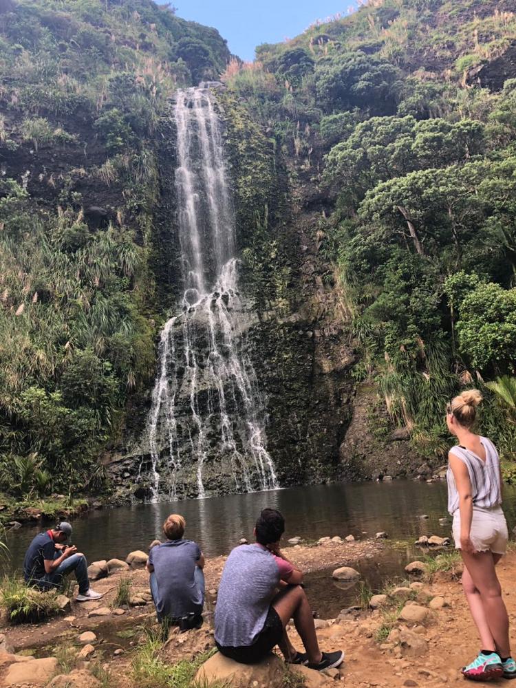 Wasserfall in Neuseeland